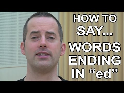 How to Say Words Ending in