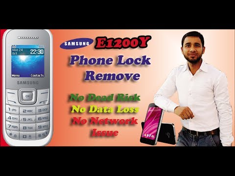Samsung E1200y Phone lock remove without any Box