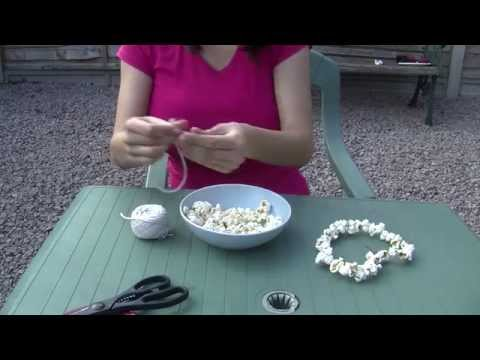 How to: make a popcorn bird feeder