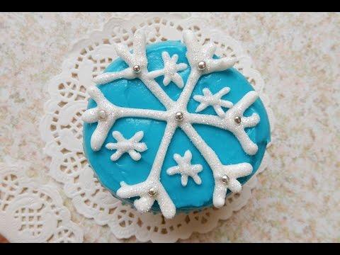 Snowflakes Cupcakes