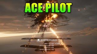 Ace Pilot - Planegasm   Battlefield 1 Airplane Gameplay