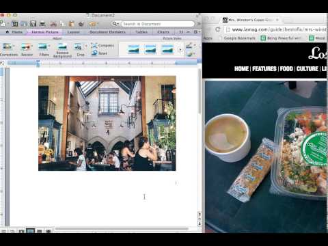 How to put images in Microsoft Word (Mac 2011)