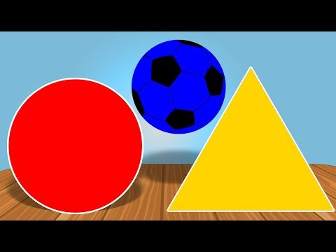 Learn Colors and Shapes | Educational Video | Soccer Ball | Children Video
