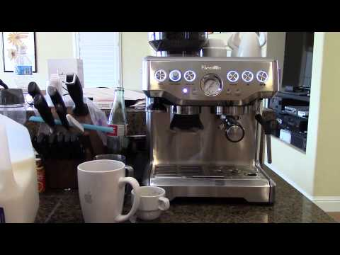 Cappuccino on the Breville Barista Express