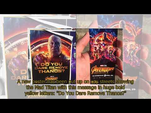 Avengers Infinity War FREE preview screening: Tickets hidden behind special Thanos posters