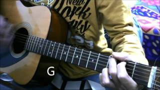 2 HeartBroken /sad Songs - Bollywood Guitar cover lesson chords super beginners valentine