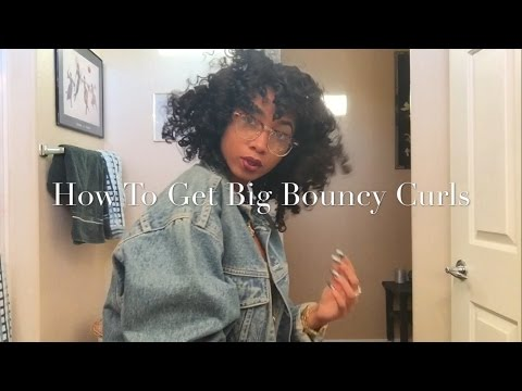 How to get big bouncy curls WITHOUT heat