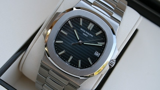 The beauty of Patek Philippe Nautilus 5711/1A-010 Blue Dial 40 mm Stainless Steel luxury watch