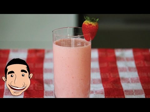 Strawberry Banana and Raspberry Smoothie with Ice Cream