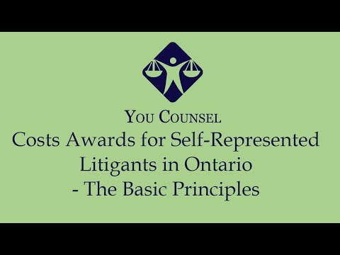 Costs awards for Self-Represented Litigants in Ontario - The Basic Principles