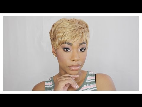 QUICK WEAVE: Blonde Pixie Hair Tutorial|ChimereNicole