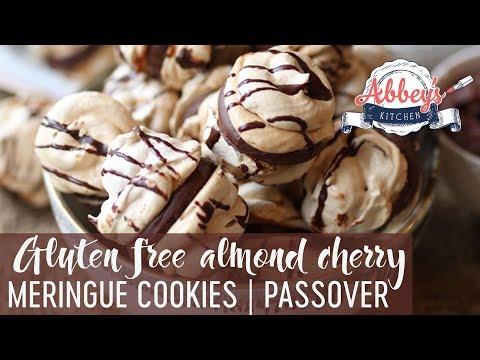 Gluten Free Almond Cherry Chocolate Meringue Cookies | PASSOVER | Grain & Dairy Free