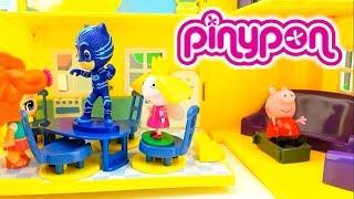 PEPPA PIG E LA PINYPON BABY SITTER CON BEN E HOLLY E PJ MASKS - attenzione in pavimento è lava!