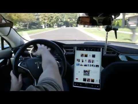 Tesla Autopilot v8.0 on the freeway - Extended version