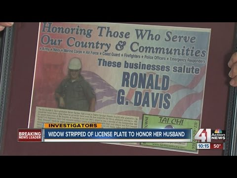 Widow told she can't use Kansas license plate honoring late husband