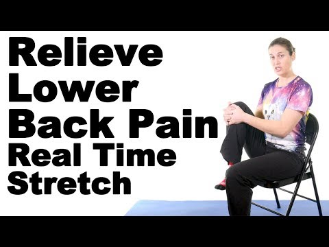 Relieve Lower Back Pain with This Real Time Seated Knee to Chest Stretch - Ask Doctor Jo