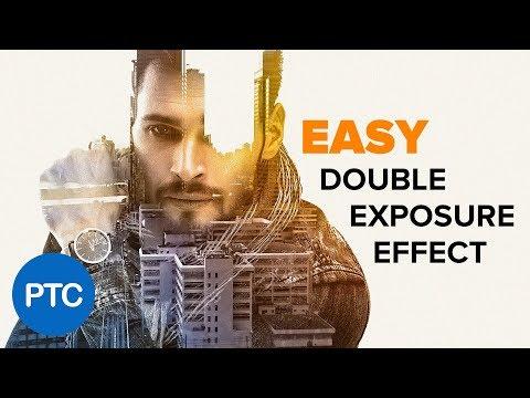 DOUBLE EXPOSURE Effect Photoshop Tutorial - EASY Double Exposure in Photoshop