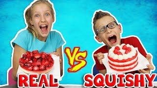 Download SQUISHY FOOD vs REAL FOOD Challenge!!! Video
