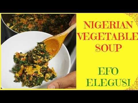 How to Make Egusi soup | Efo Elegusi