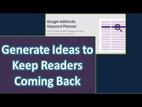 How to Get Ideas to Write an Article Using Google Keyword Tool Planner