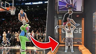 The GREATEST NBA Dunk Contest DUNKS EVER! Recreated on TRAMPOLINE BASKETBALL