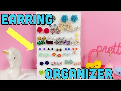 DIY CRAFTS :How to make an earring holder\earring organizer