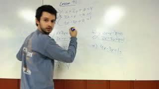 Algebra 2 Lesson 90: Systems Of Three Equations