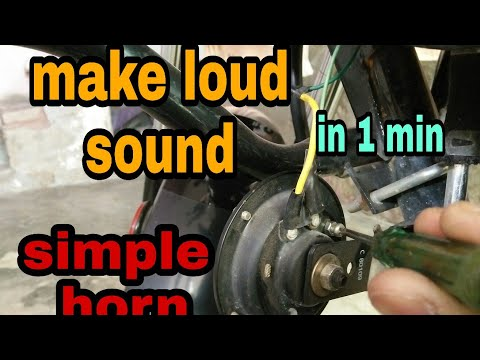 Make loud sound from simple horn for all scooter and bikes|mr.automobiler