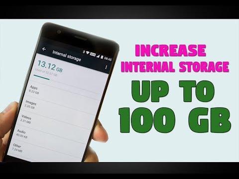 How to increase internal storage upto 100GB without Root