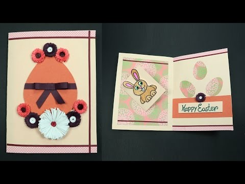 Handmade Easter Egg Greeting Card - Super Cute Quilling Card