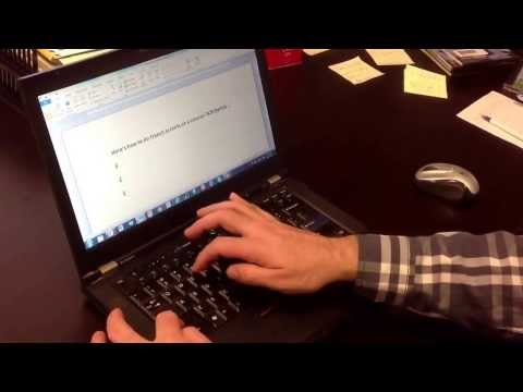 French accents on a Lenovo laptop