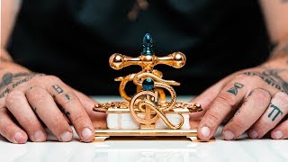 Custom 24K GOLD Hand Made Playing Card Press - One of a kind!