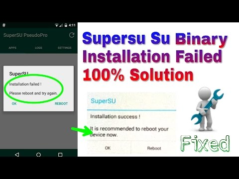 SuperSu Installation Failed Solution 100% Working || How To Fix  SuperSu Failed To Update SU Binary