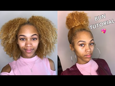 Quick Bun on Curly Natural Hair