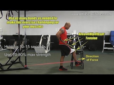 How to Run Faster - 40 yard dash - Hip Flexors for Speed - Isometric training exercise