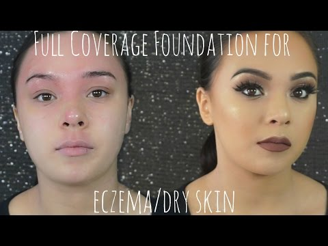 Full coverage makeup for dry skin/eczema || Beauty by Julie