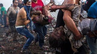 Fotos de La Explosión en el mercado de cohetes de Tultepec