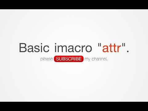 BASIC iMacro: ATTR, SOLVE TAG AN ELEMENT HAS NO ATTRIBUTES, BASIC COMMAND