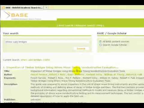 Bielefeld Academic Search Engine (BASE) - Advanced Search