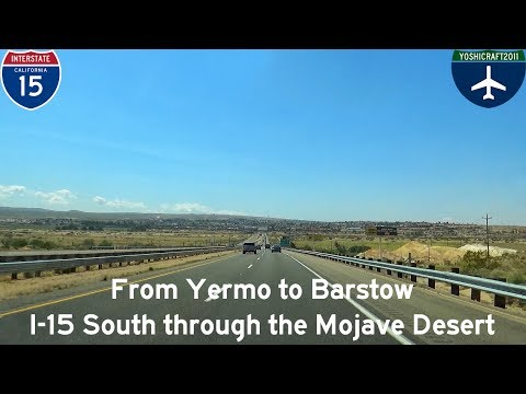 (5-6) From Yermo to Barstow - I-15 South through the Mojave Desert