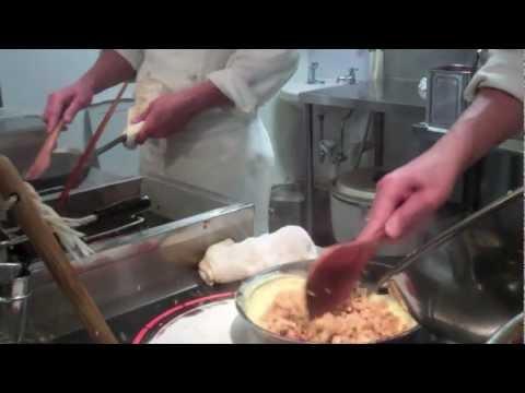 Omurice Making-Japanese Rice Omelette Being Made-Osaka Dept Store