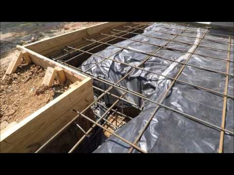 HOW TO REBAR CEMENT SLAB FOUNDATION BEAMS PART 2 0F 3