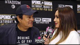LEGEND ROBERTO DURAN IN DALLAS TALKS ERROL SPENCE JR VS MIKEY GARCIA!