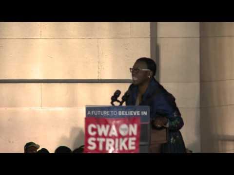 Nina Turner is Fired Up in Washington Square, NYC | Bernie Sanders