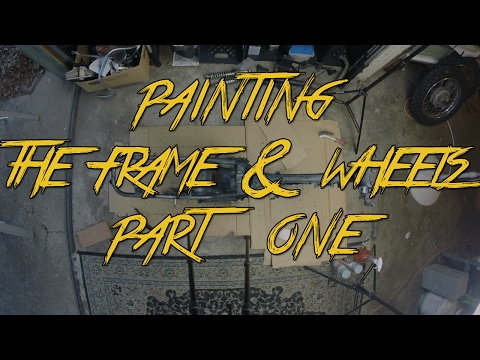 How To Paint Your Motorcycle Frame And Wheels!!! pt1