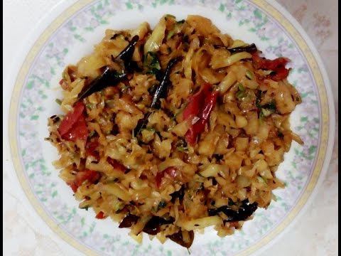 Cabbage curry | tasty cabbage curry for Chapathi, Puri, Parata & side dish to Rice items