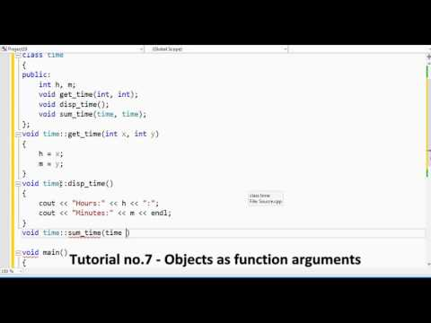 Tutorial no 7   Objects as function arguments By Khezer Mustafa