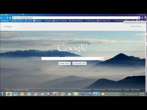 How to change the font on Google Chrome.