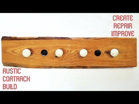 Making a Rustic Wood Coat Rack with Antique Door Knobs