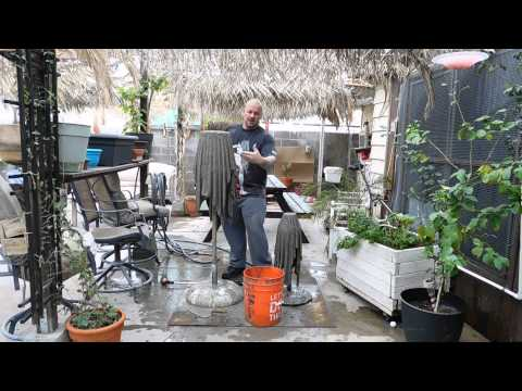 How to make cement planters using old rags